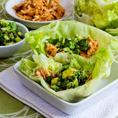 Slow cooker Lettuce Wraps