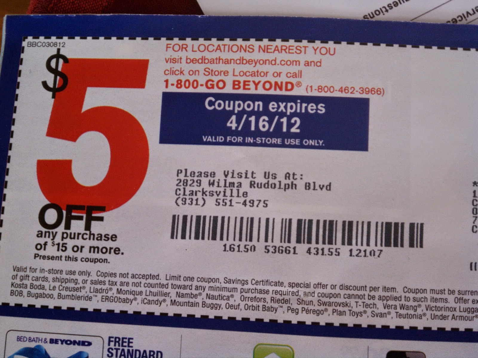 Coupon codes for bed bath and beyond