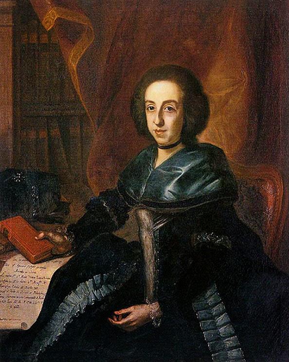 Retrato de María Isidra Guzmán y de la Cerda realiado por Joaquín Inza y Ainsa en 1785