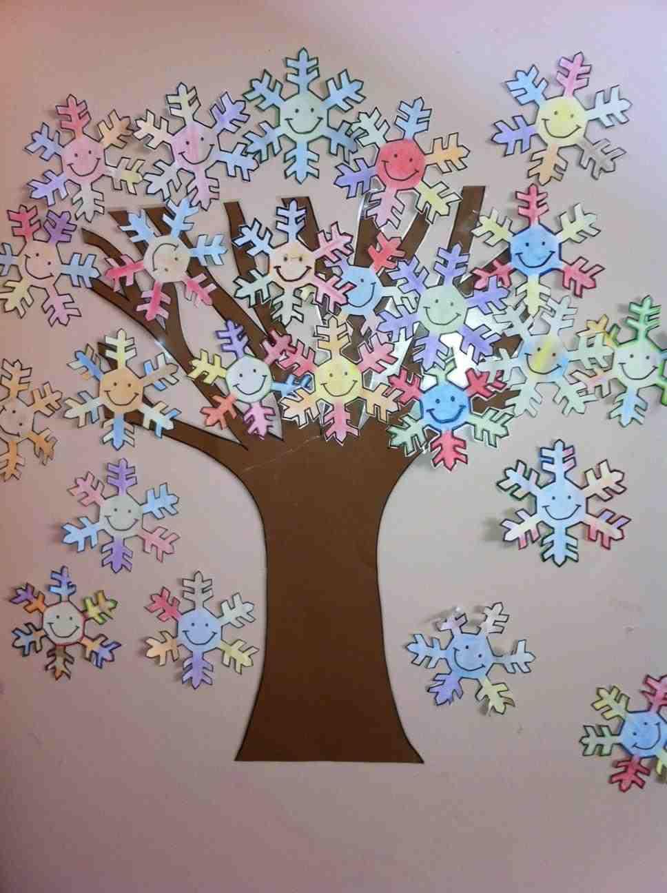 Mi mundo infantil manualidades invierno - Arbol de navidad de pared ...