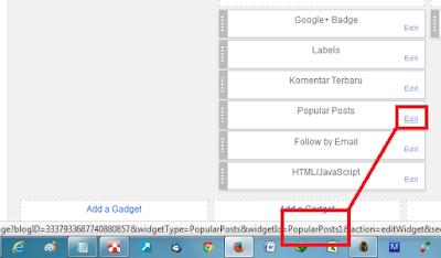 Cara mengetahui ID widget pada blogger