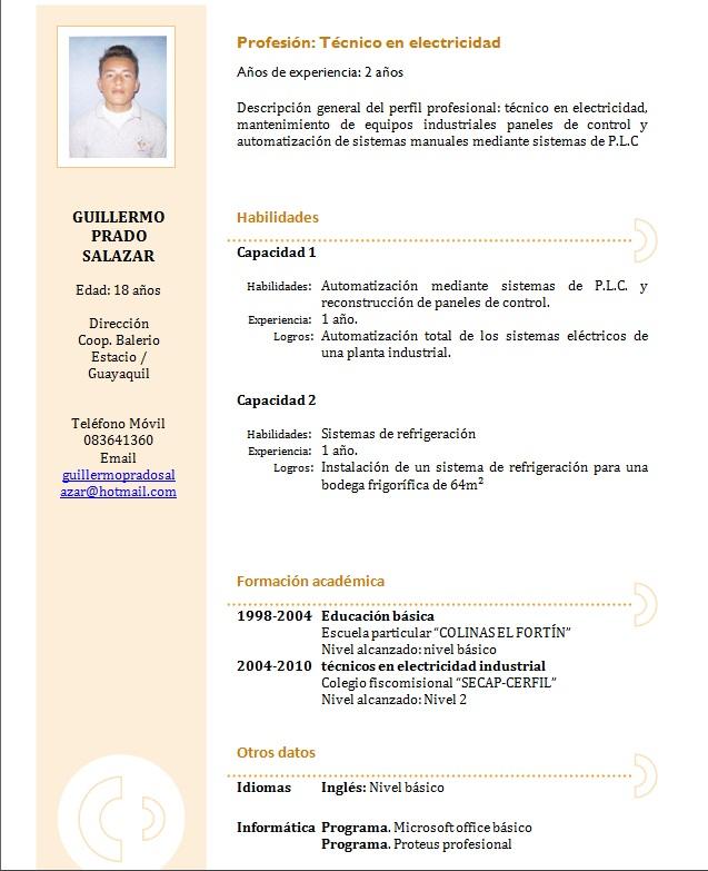 Nivelacion ing. civil 3m: curriculum vitae