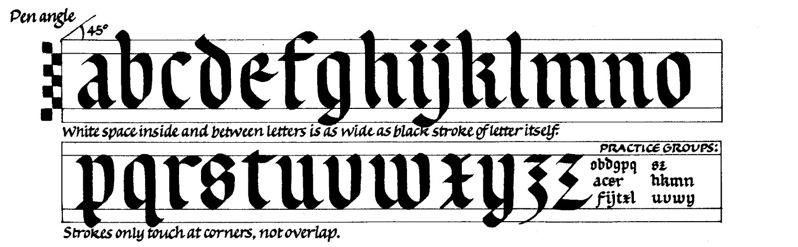 Margaret Shepherd Calligraphy Blog 56 Rounded Gothic