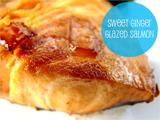 Family Feedbag: Sweet ginger glazed salmon