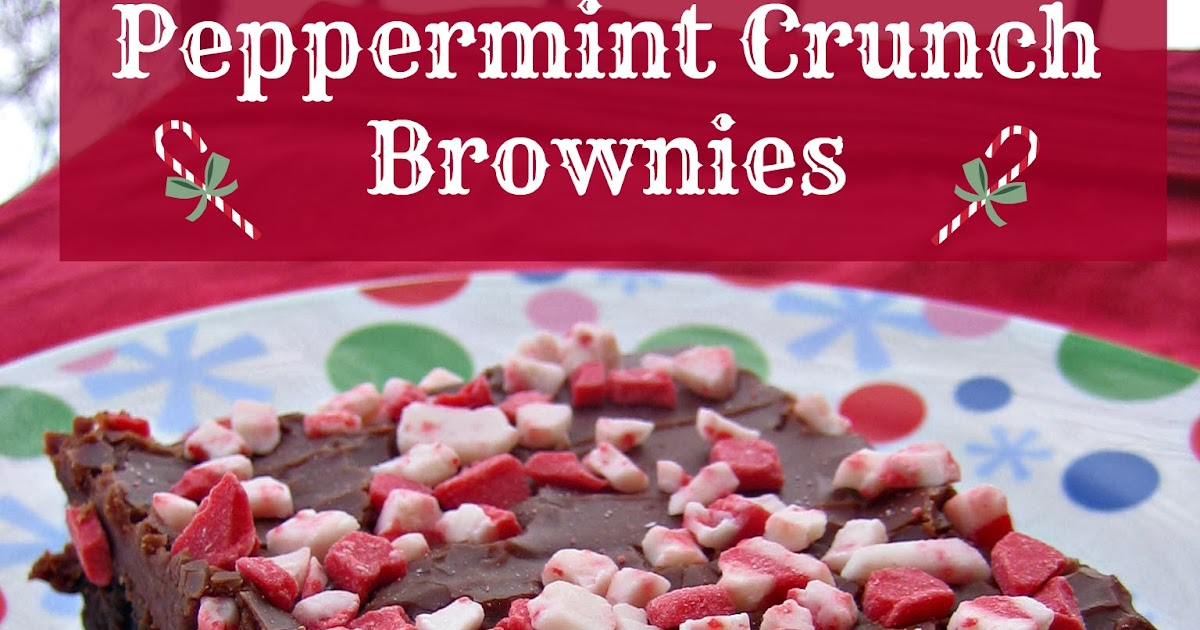 Peppermint Crunch Brownies ~ Edesia's Notebook