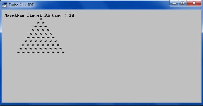 Looping For Quot Segitiga Piramid 2 Quot Pada C Simple Dan S Blog