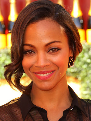 Zoe Saldana Dangling Diamond Earrings
