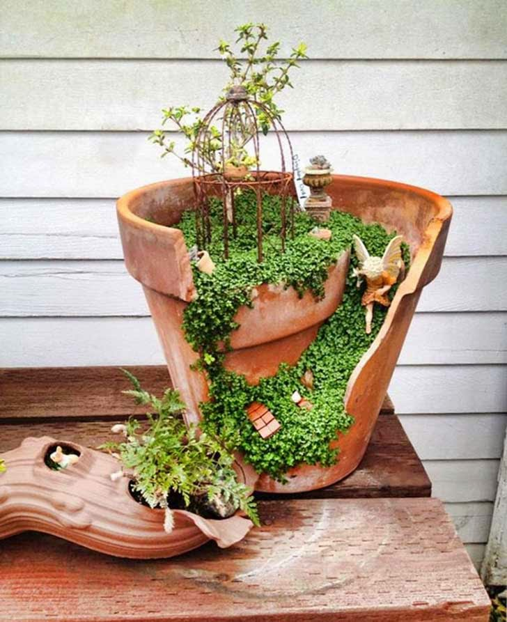 jardinería&paisajismo: que hacer con las macetas rotas?
