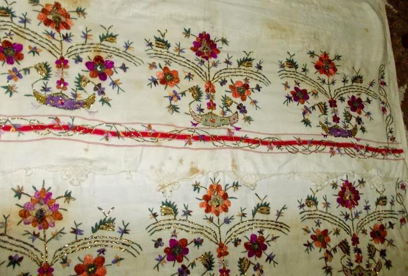 hamam havlusu,eski hamam havlusu işlemeleri