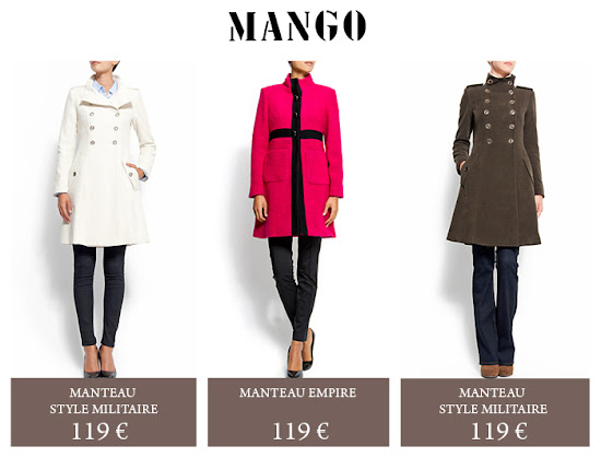 Collection Manteaux Mango