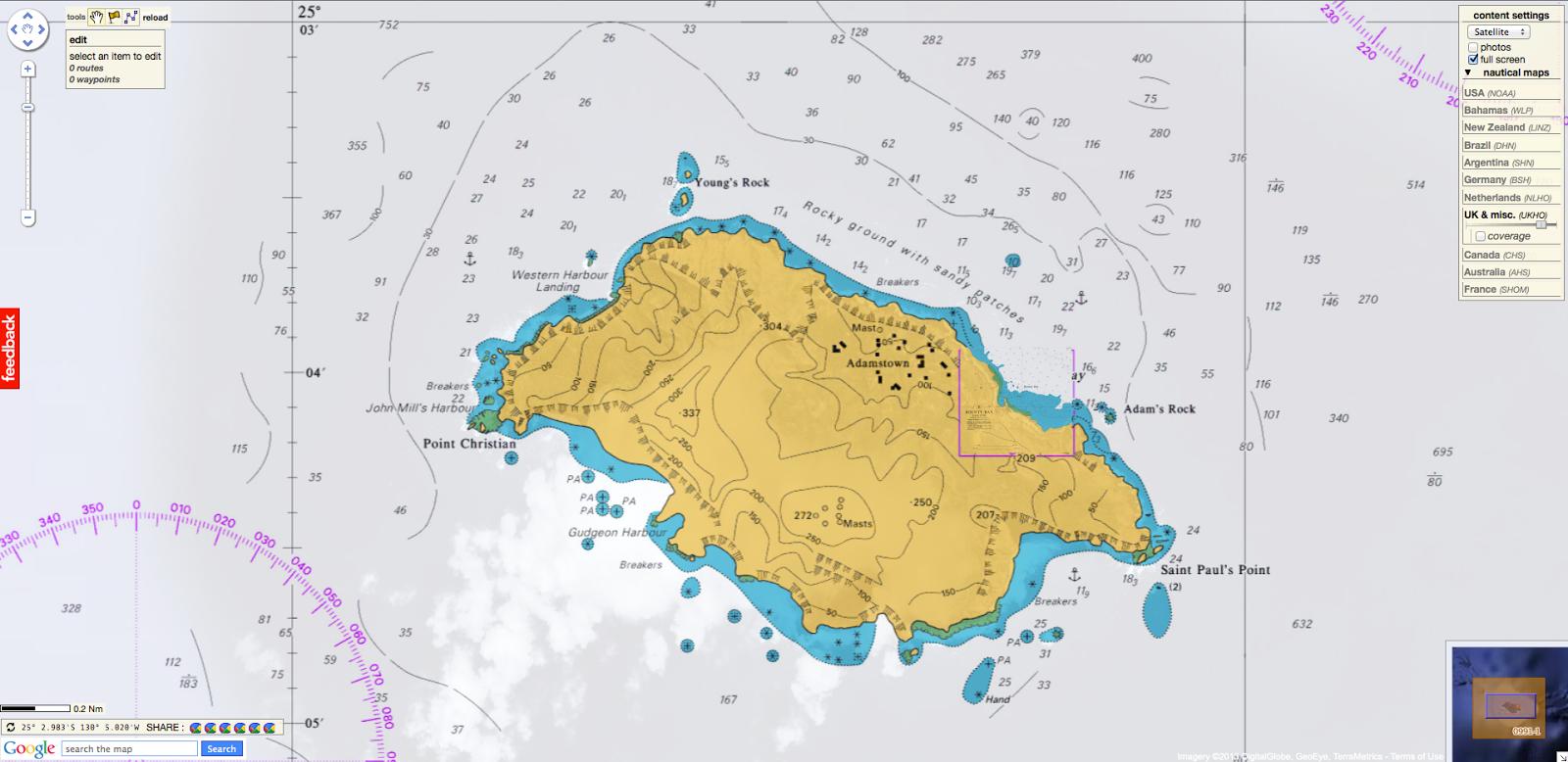 GeoGarage Blog Pitcairn Island And Descendants Of Mutineers - Pitcairn island one beautiful places earth