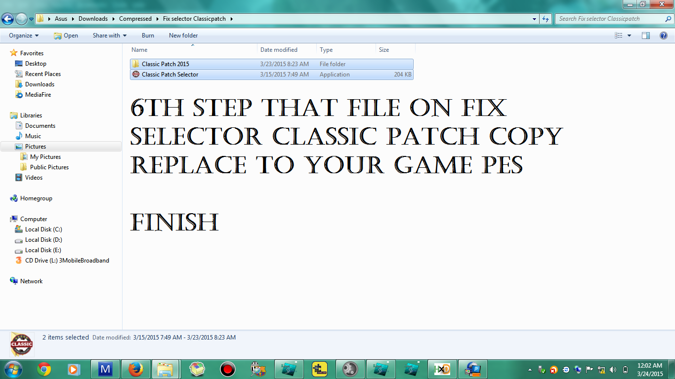 تحميل باتش PES 2015 Classic Patch 1.01 تحميل مباشر