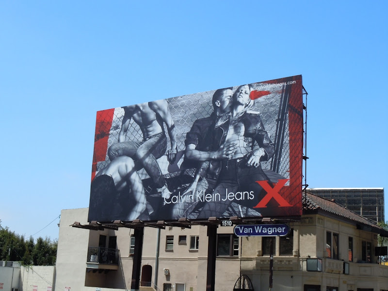 Calvin Klein X Jeans billboard