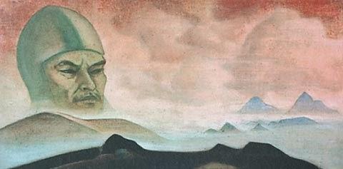 Н.К.Рерих. Явление срока (Гора Ленина). 1926 или 1927
