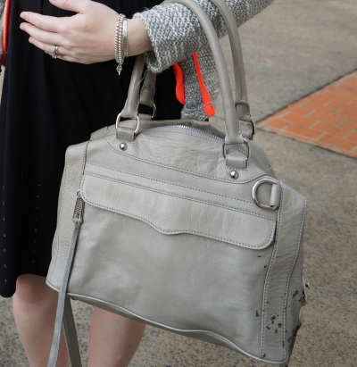 Rebecca Minkoff soft grey morning after mini bag MAM