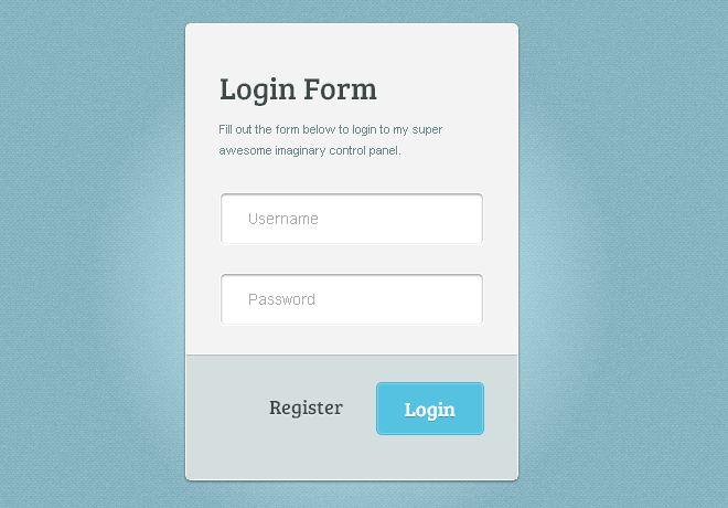 stylish css3 login form bwidgets