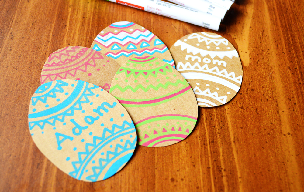 Peachy cheek cardboard easter eggs name tags i am going to use these to attach to some easter presents but these will also be great to use to make cards negle Image collections