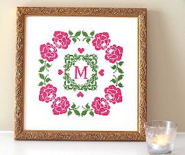 Rose Monogram Pattern