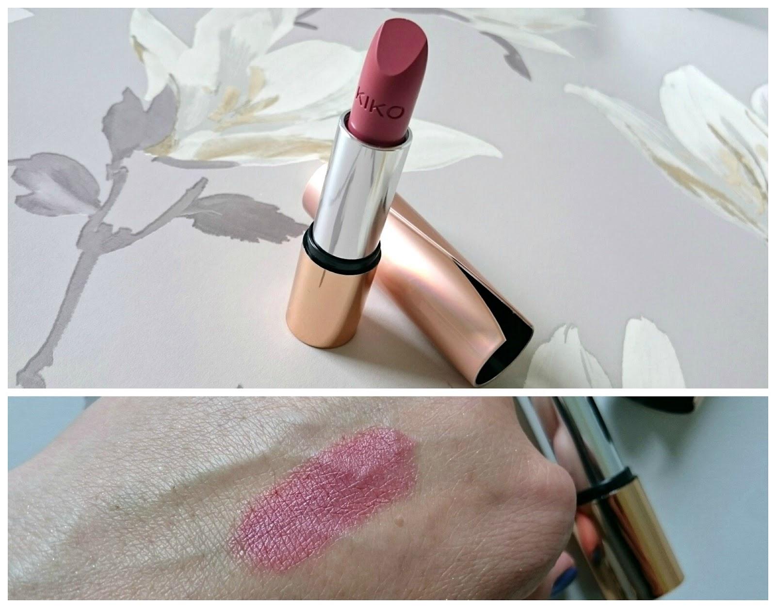 KIKO velvet matt lipstick nude rose