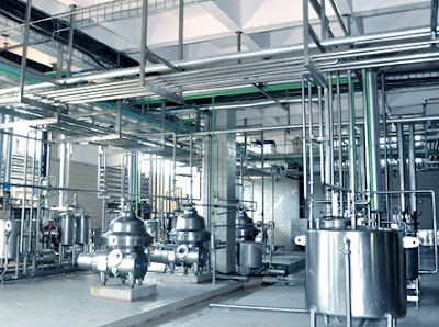 soy milk production plant.