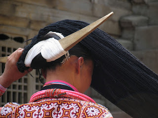 photo of a miao long horn headdress of china