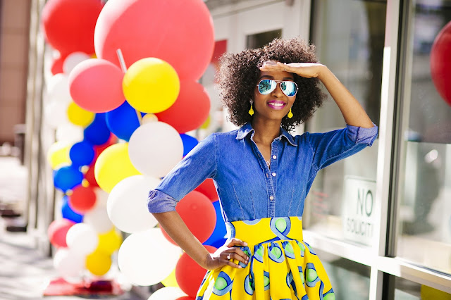 Colorful Ankara Skirt, Fun And Flirty Outfit