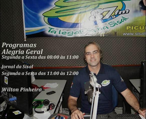 Pograma Alegria Geral apresentação Wilton Pinheiro