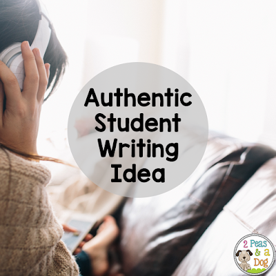 Authentic student writing ideas that will keep them engaged during English class.