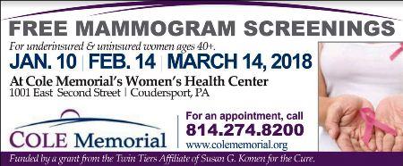 2-14/3-14 Free Mamograms