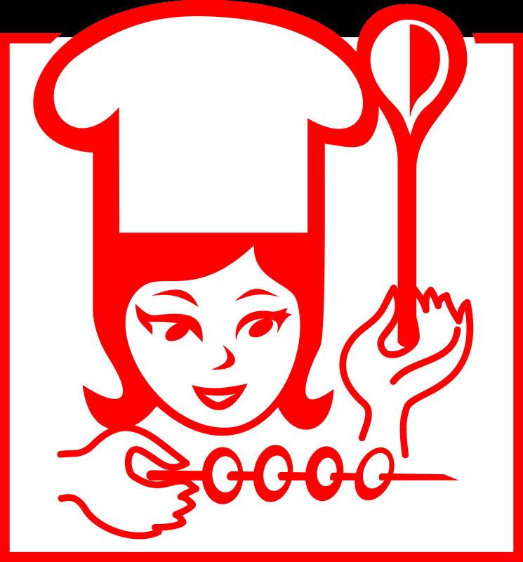 Cara de mujer con gorro de cocinero y cuchara | Imagenes Sin Copyright