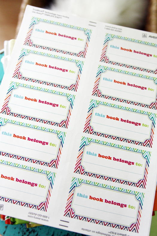Iheart organizing our new bookplates a freebie for you for Free printable bookplates templates
