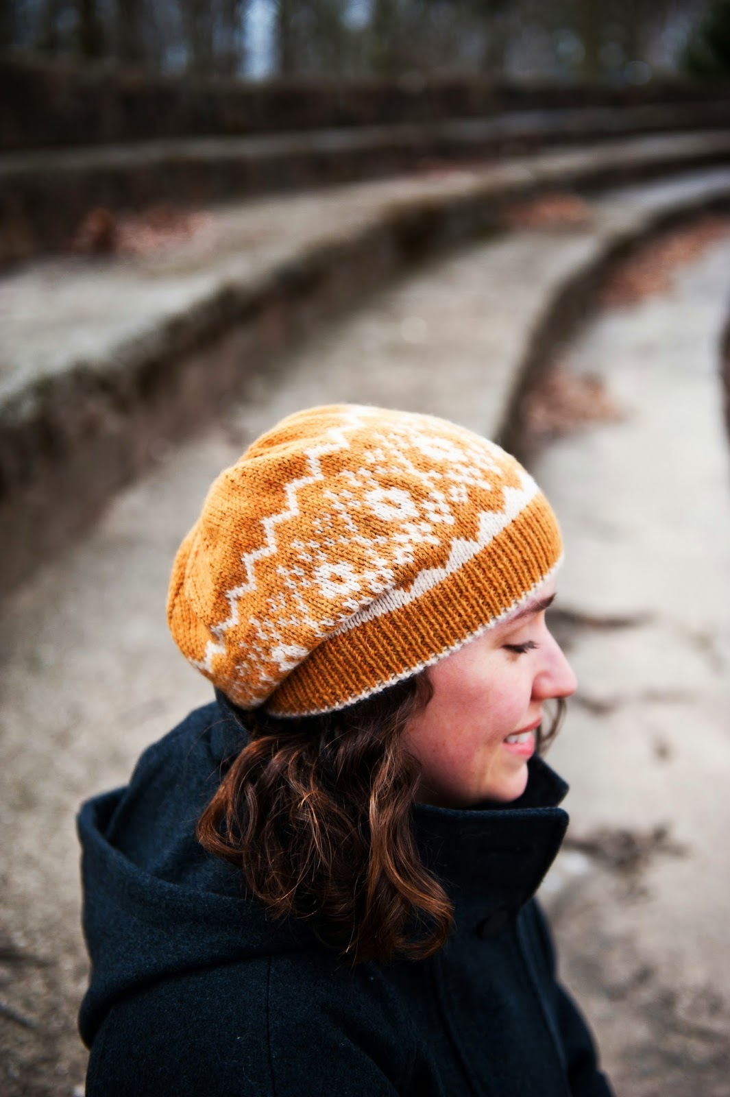 Piccolo hat -  a stranded colorwork pattern