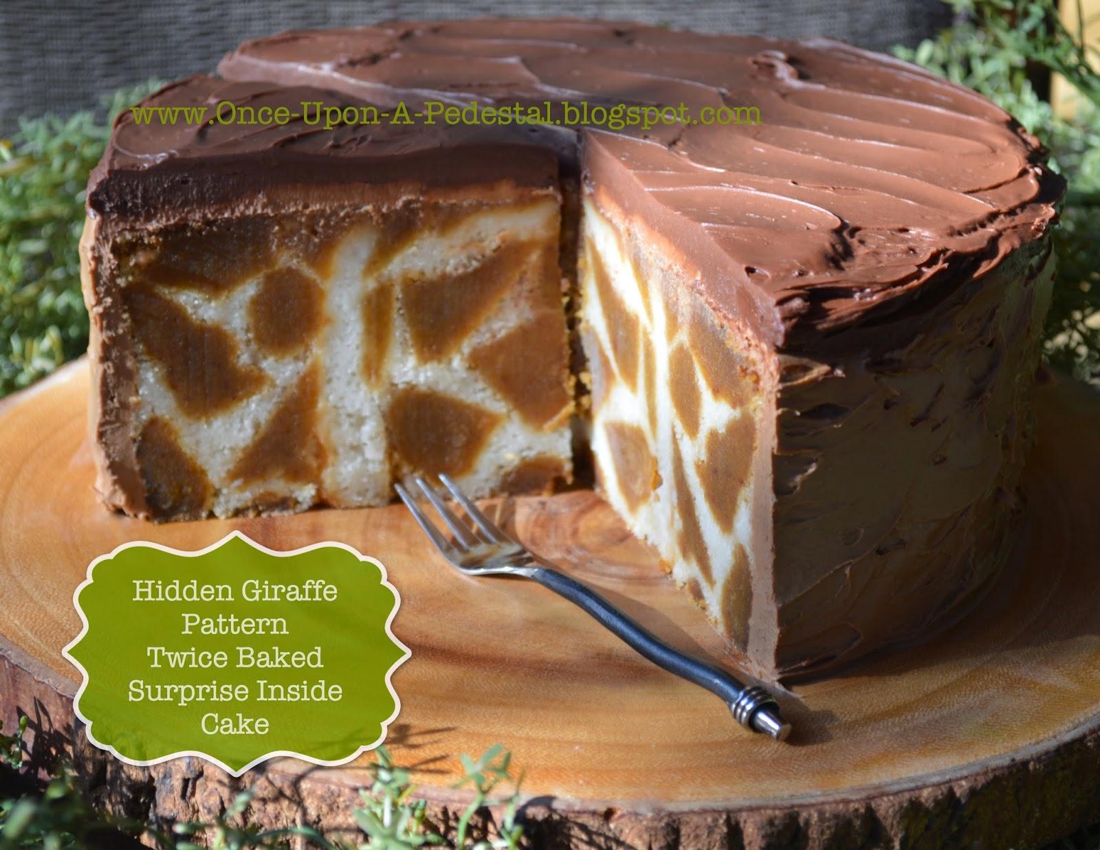 Once Upon A Pedestal Surprise Inside Cake Hidden Giraffe Pattern