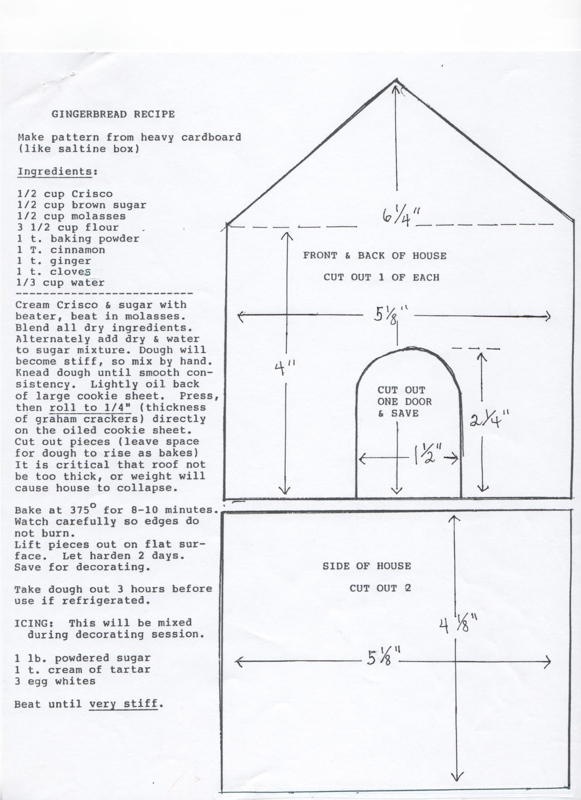 A Sassy Scrapper Gingerbread House Instructions