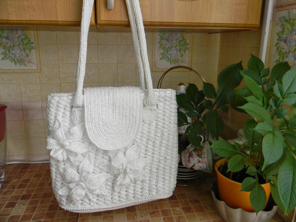 Вязание из пакетов крючком сумок 34