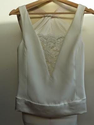 top de mariée sur mesure par modéliste couturière à Versailles