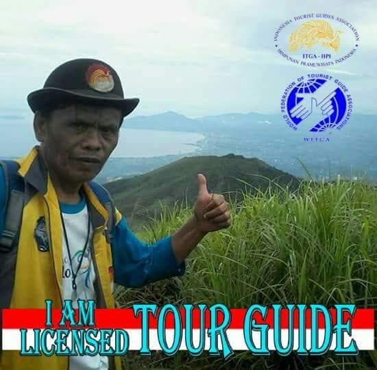guide lokon active volcano