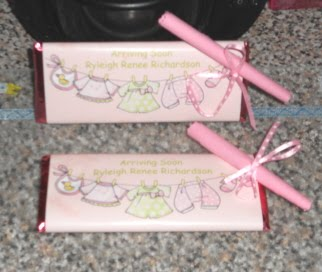 passionate about crafting candy bar baby shower party favors