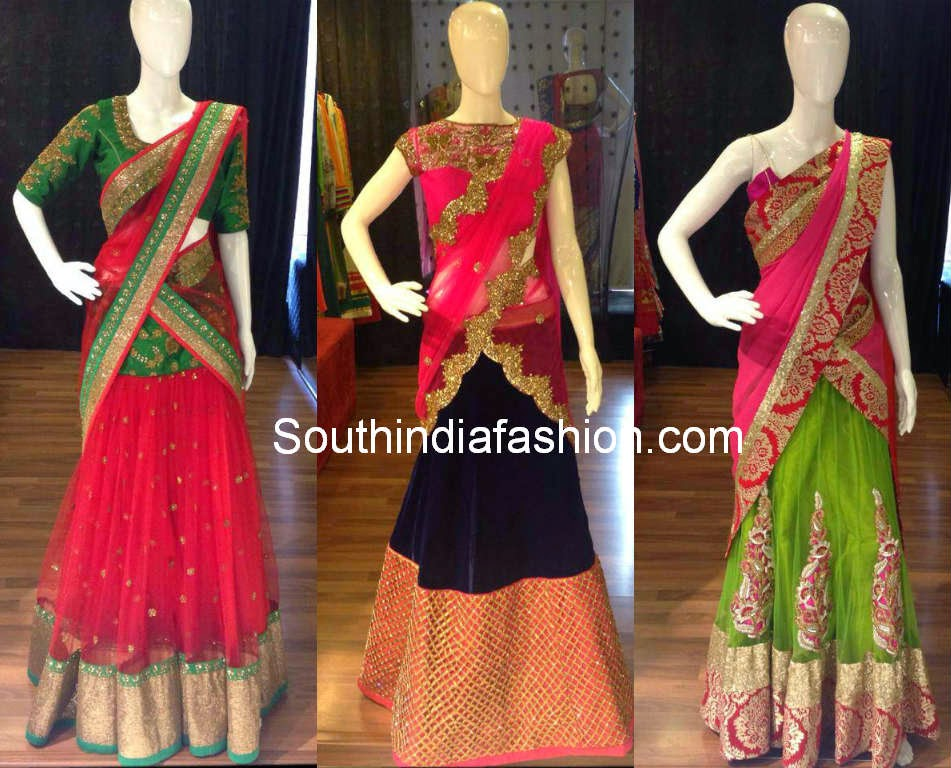 beautiful half sarees
