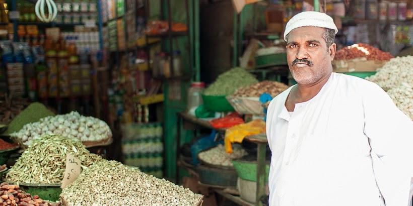 Fűszerpiac. Omdurmán, Szudán.