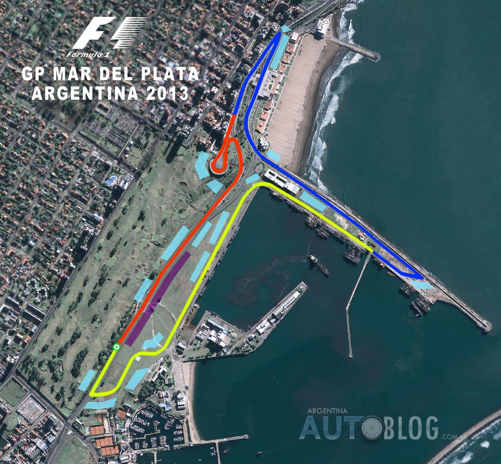 Circuito Holanda : Así será el circuito callejero de mar del plata para la fórmula