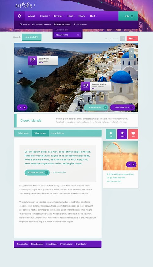 50+ Fresh GUI Design Photoshop PSD Files