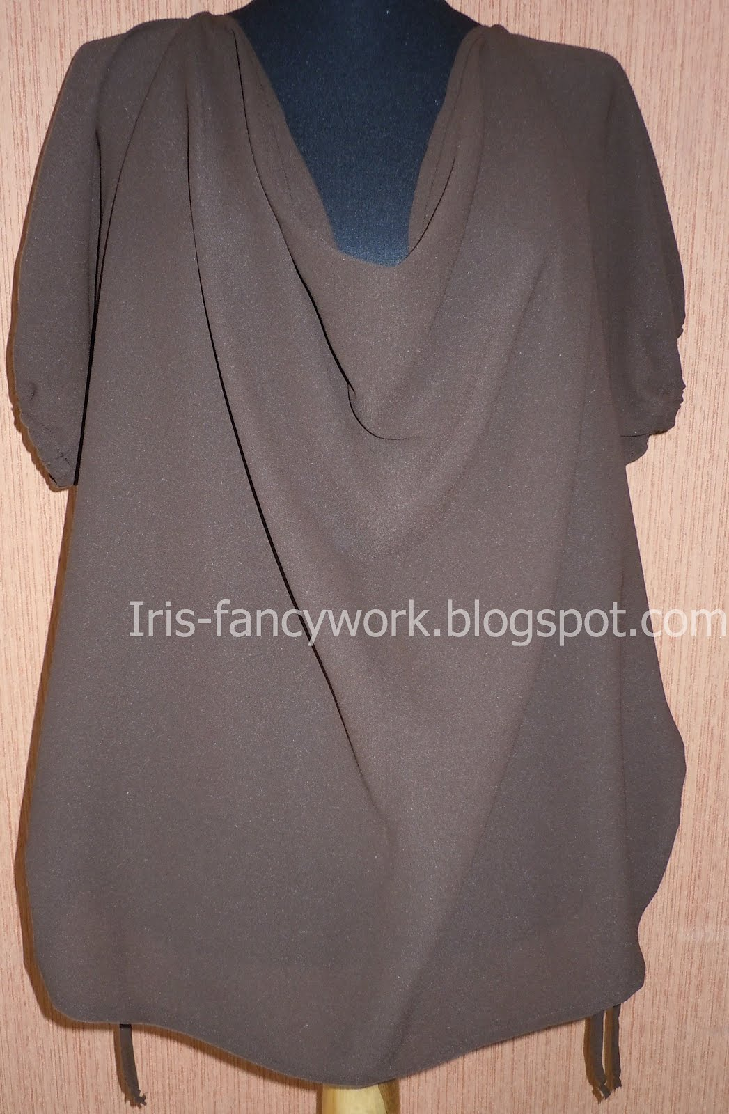 Блузка из креп-шифона выкройка