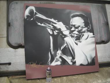 Miles Davis op canvas