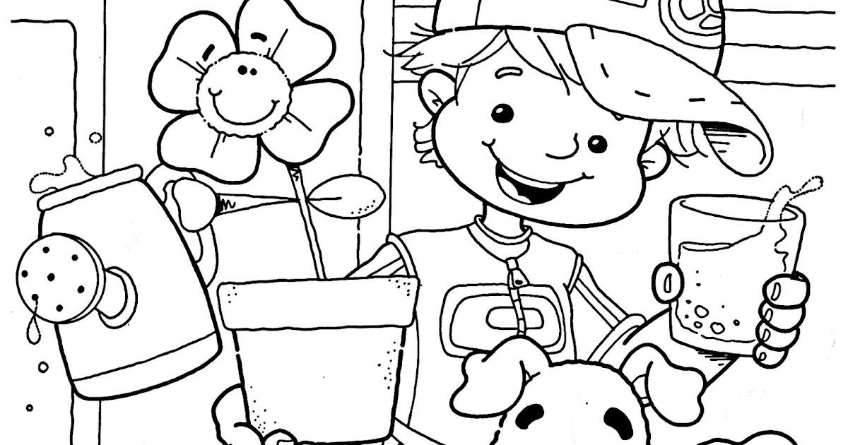 Leer es una tarea facil dibujos sobre el cuidado del agua for Parrilla de actividades casa del agua