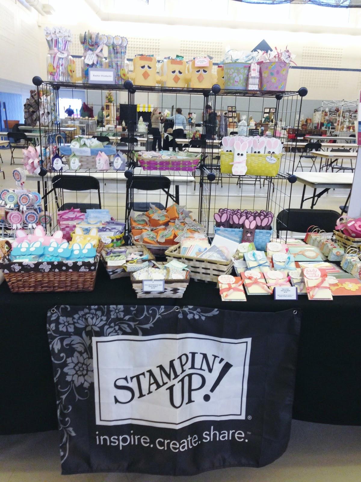 eileen s stamping corner craft fair set up