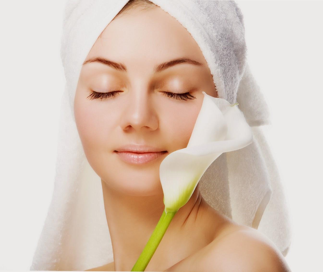 Facial rash in fold of skin