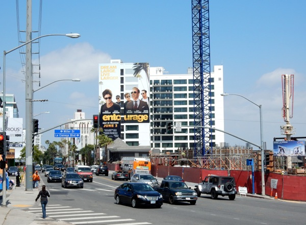 Giant Entourage movie billboard