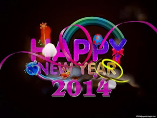 Kartu Ucapan Happy New Year 2014