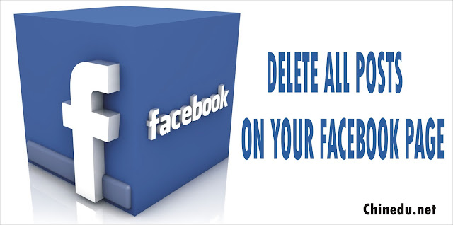 delete all posts on a facebook page
